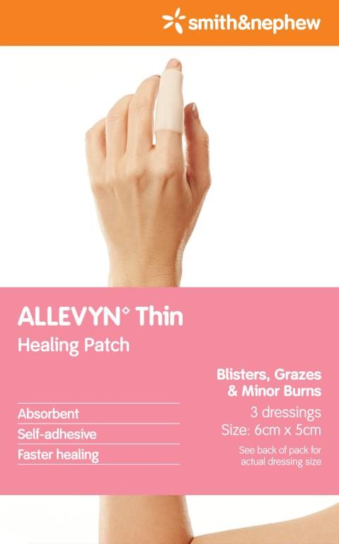Allevyn Thin Conformable Healing Patch 6cm X 5cm X 3
