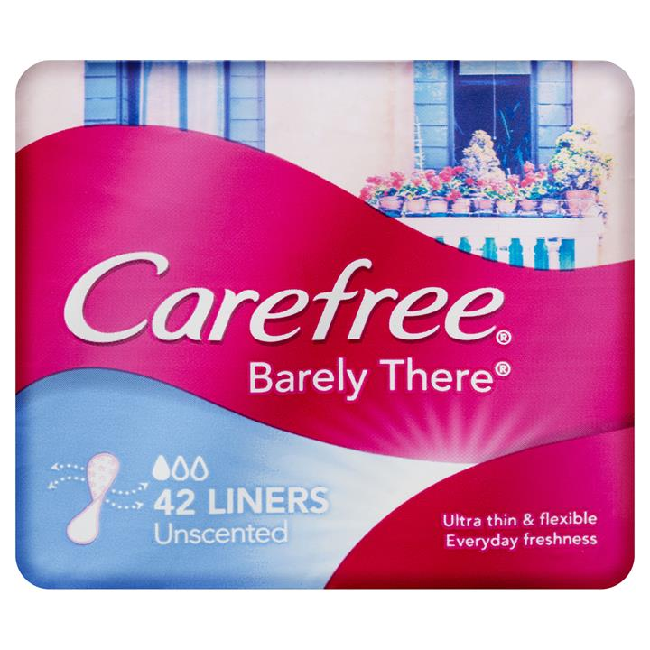 Carefree Liners Barely There Breathable X 42