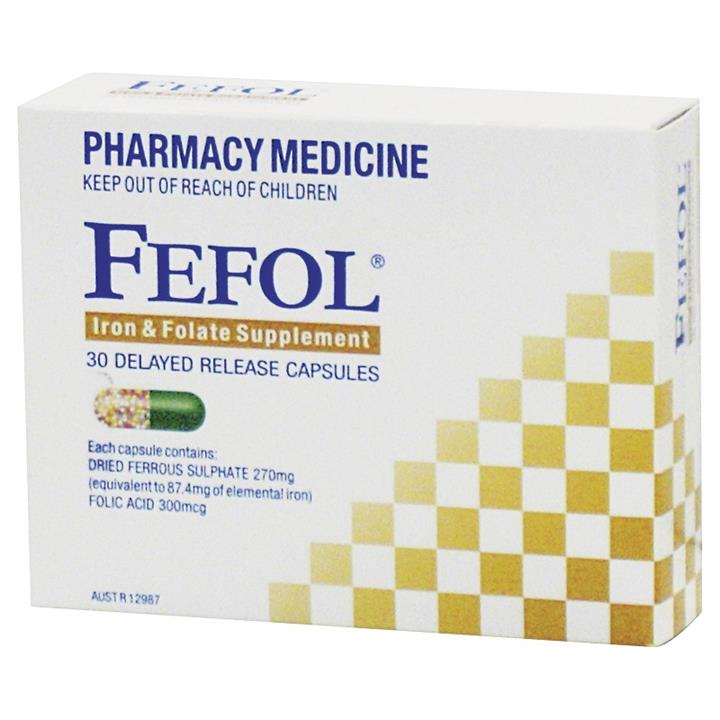 Fefol Iron And Folate Supplement Cap X 30