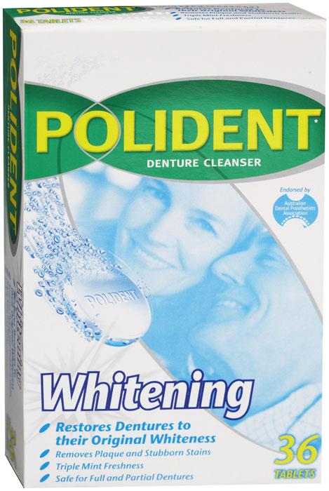 Polident Whitening Cleanser Tab X 36