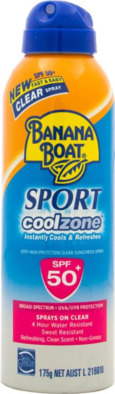 Banana Boat Sport Coolzone Clear Spray SPF 50+ 175g