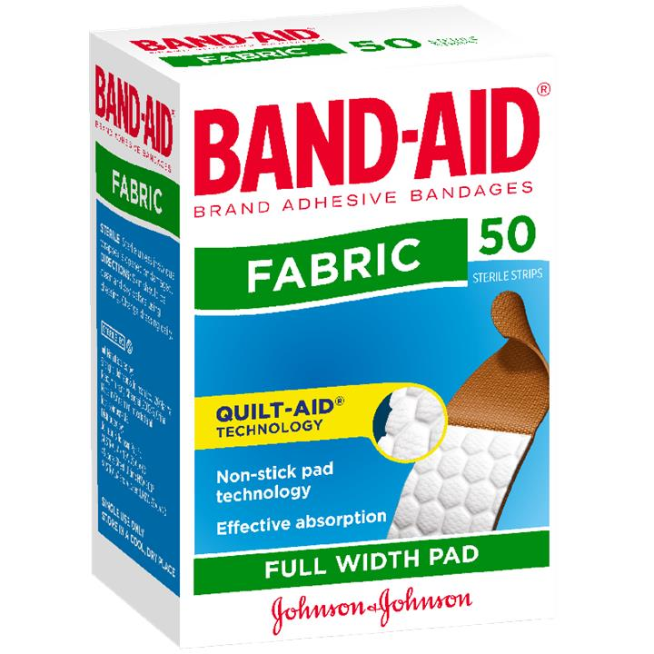 Band-Aid Fabric Strips X 50