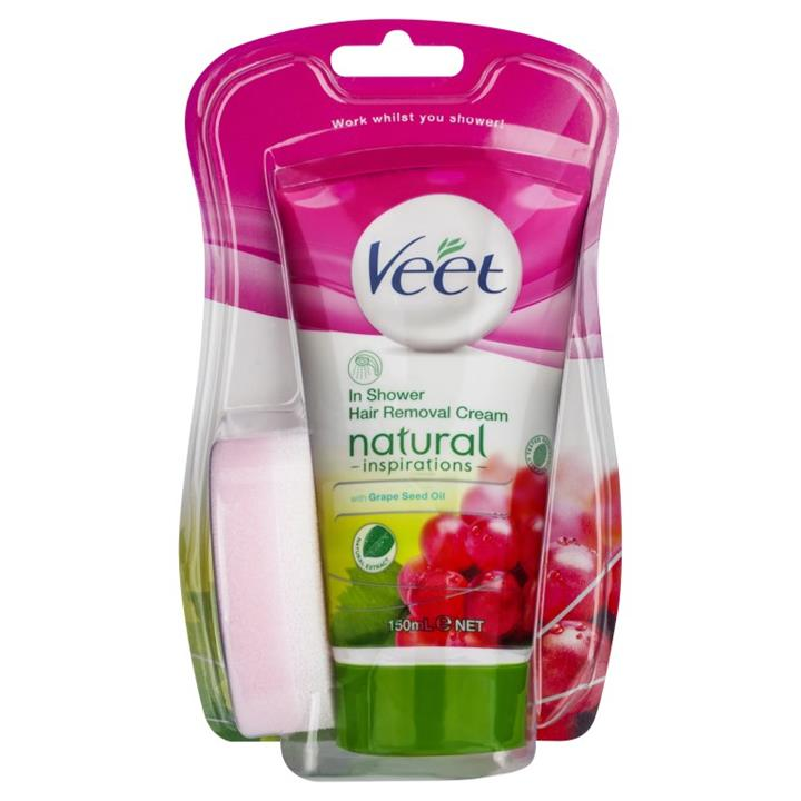 Veet Natural Inspirations In Shower Hair Removal Cream 150ml
