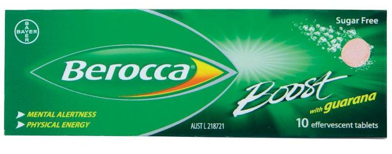 Berocca Boost With Guarana Effervescent Tab X 10