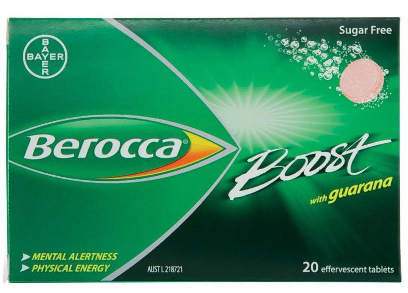 Berocca Boost With Guarana Effervescent Tab X 20