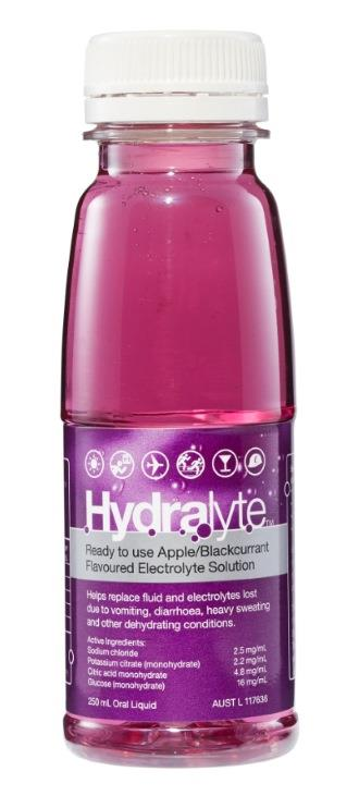 Hydralyte Electrolyte Solution Apple Blackcurrant Flavoured 250ml