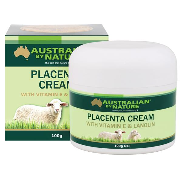 Australian By Nature Placenta Cream with Vitamin E & Lanolin 100g X 6