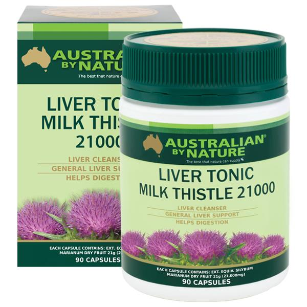 Australian By Nature Liver Tonic Milk Thistle 21,000mg Cap X 90
