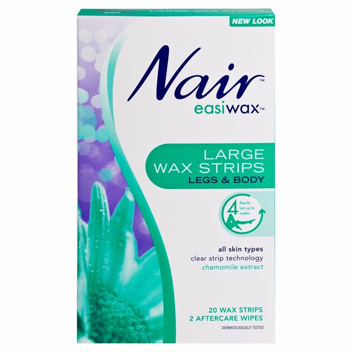 Nair Easiwax Wax Strips Large X 20