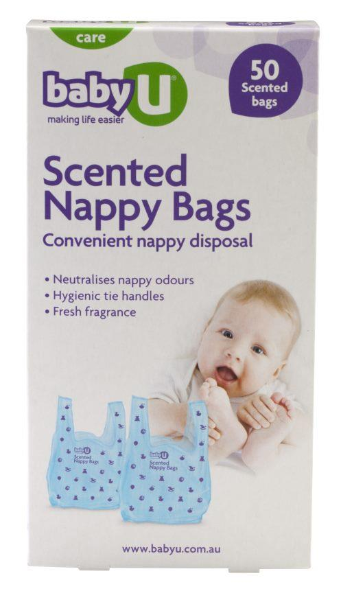 Baby U Scented Nappy Bags X 50