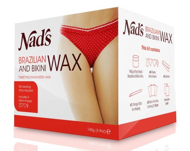 Nad's Brazilian & Bikini Wax Kit (Includes 4 Bikini Shapes) 140g