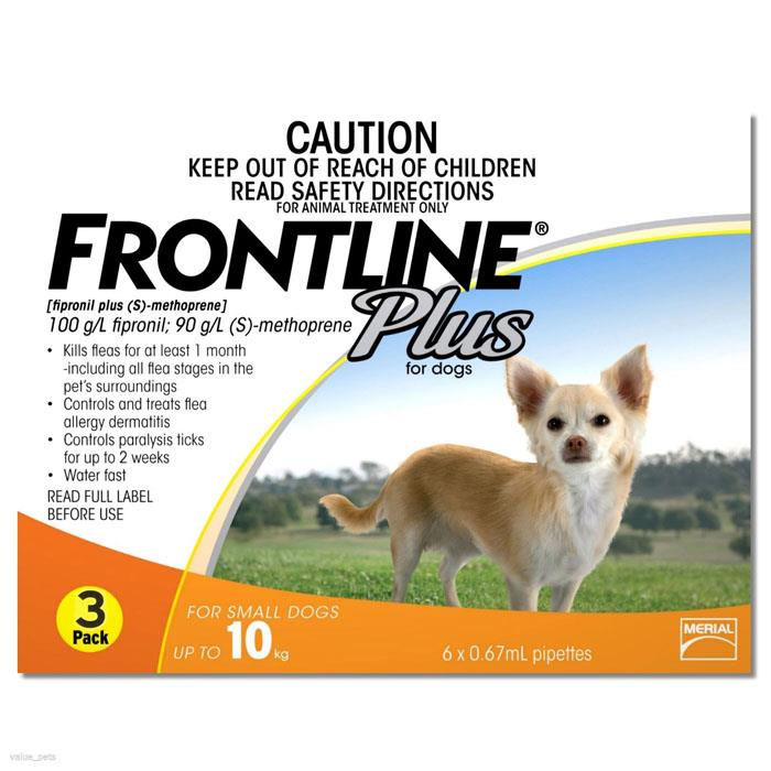 Frontline Plus For Small Dogs (Up To 10kg) – 3 Pack