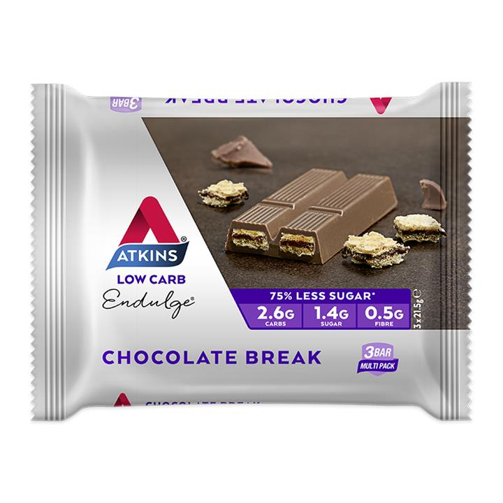Atkins Endulge Chocolate Break Bar 21.5g X 3