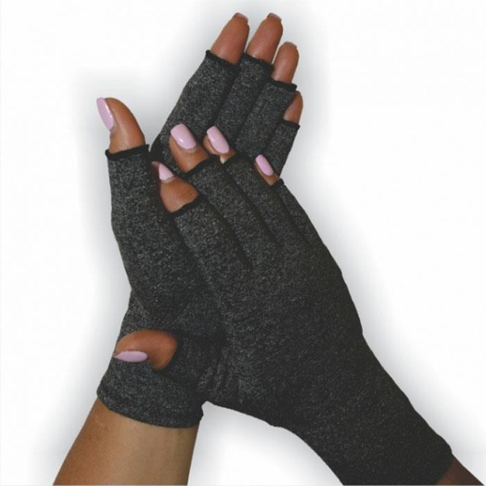 BodyAssist  Soft Compression Arthritis Gloves (Black Large)
