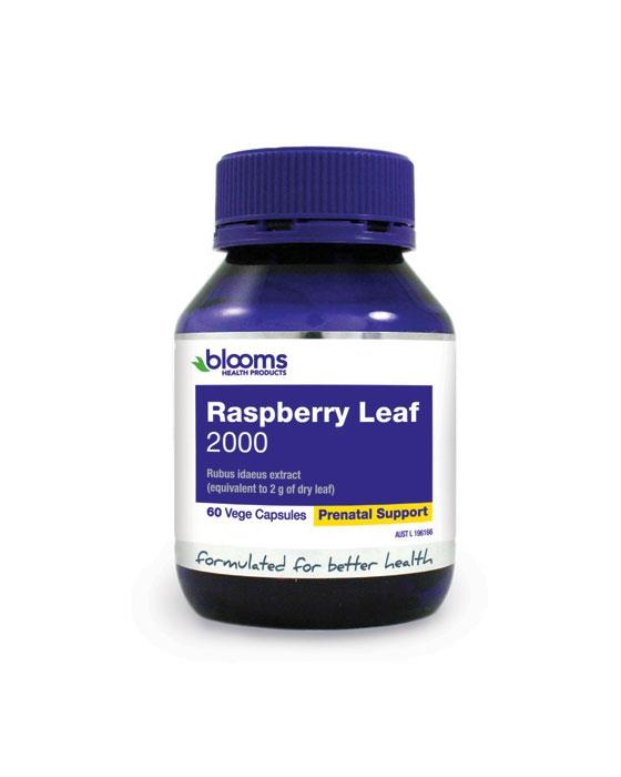 Henry Blooms Raspberry Leaf 2000mg Cap X 60