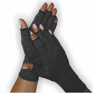 BodyAssist  Soft Compression Arthritis Gloves (Black Extra Large)