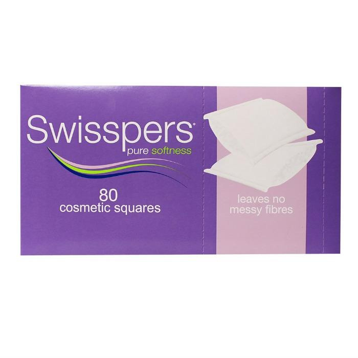 Swisspers Cosmetic Square Pads X 80
