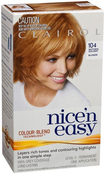 Clairol Nice And Easy 104 Golden Blonde