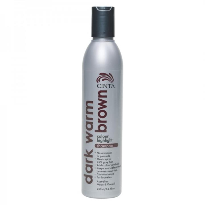 Cinta Colour Highlight Shampoo Dark Warm Brown 250ml