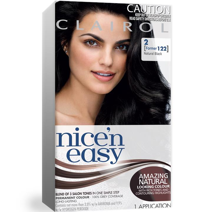 Clairol Nice And Easy 122 Natural Black