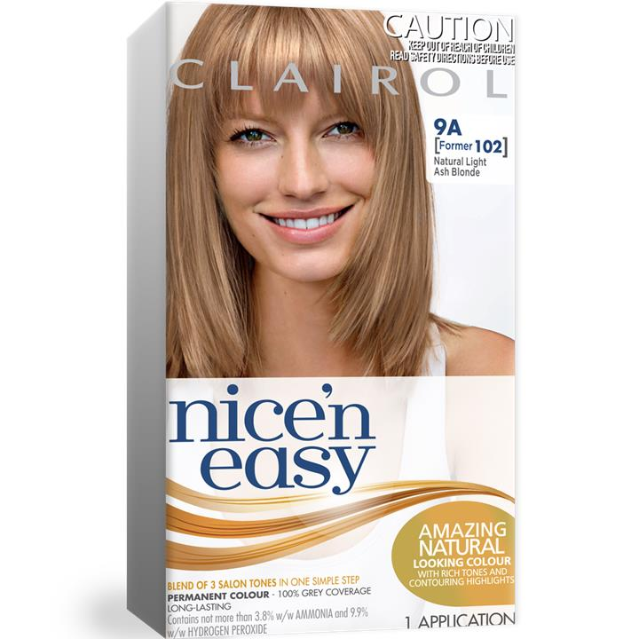 Clairol Nice And Easy 102 Natural Light Ash Blonde