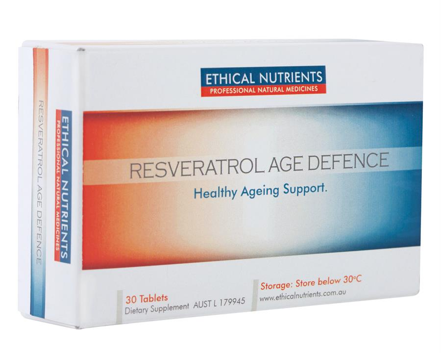Ethical Nutrients Resveratrol Age Defence Tab X 30