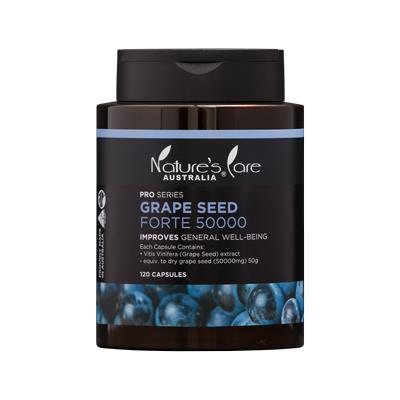 Nature's Care Pro Series Grape Seed Forte 50000mg Cap X 120