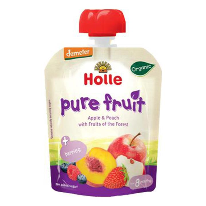 Holle Organic Pouch Berry Puppy Apple & Peach with Fruits of the Forest 90g