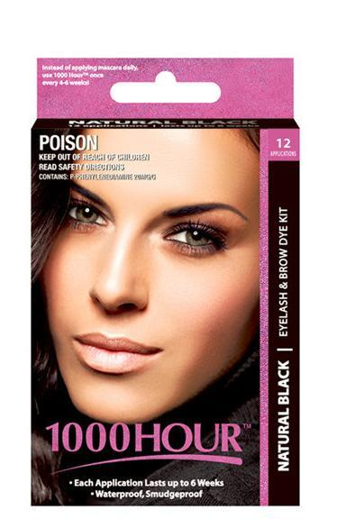 1000 Hour Eyelash & Brow Dye Kit (Black)