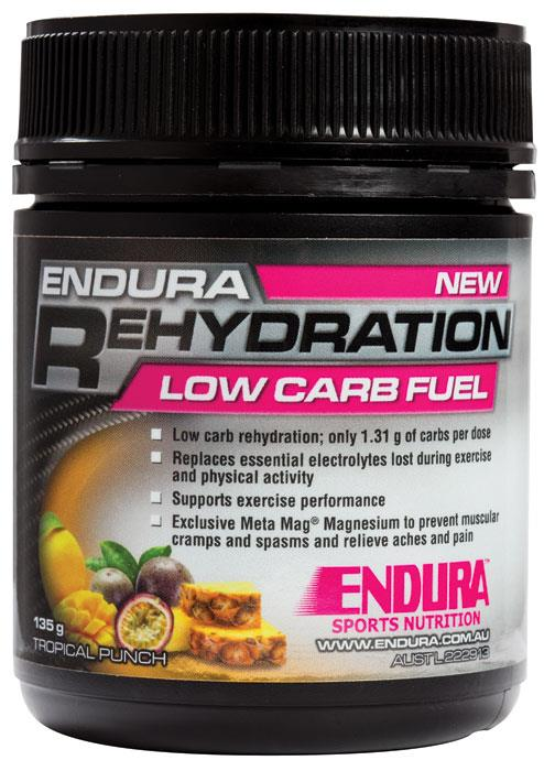 Endura Low Carb Rehydration Fuel (Tropical Punch) 128g