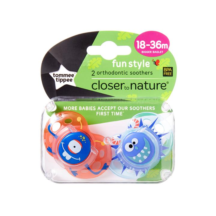 Tommee Tippee CTN Fun Style Soother 18 to 36 Months X 2 (Assorted Designs/Colours)
