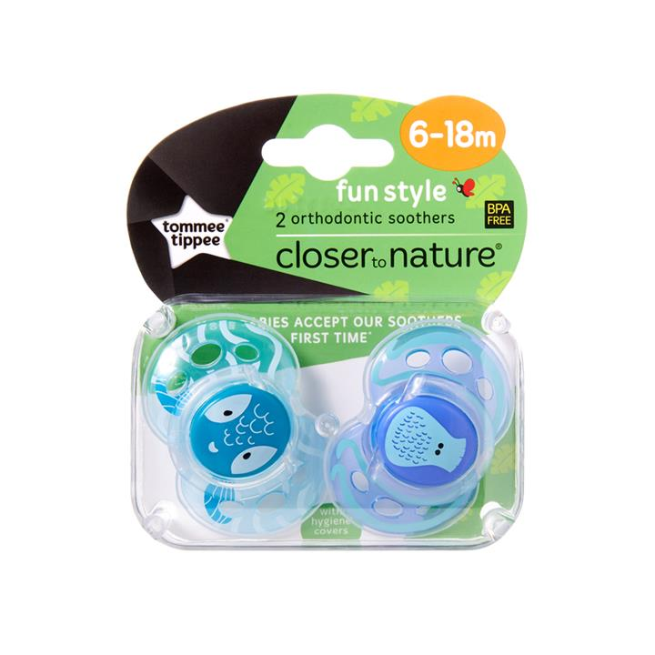 Tommee Tippee CTN Fun Style Soother 6 to 18 Months X 2 (Assorted Designs/Colours)