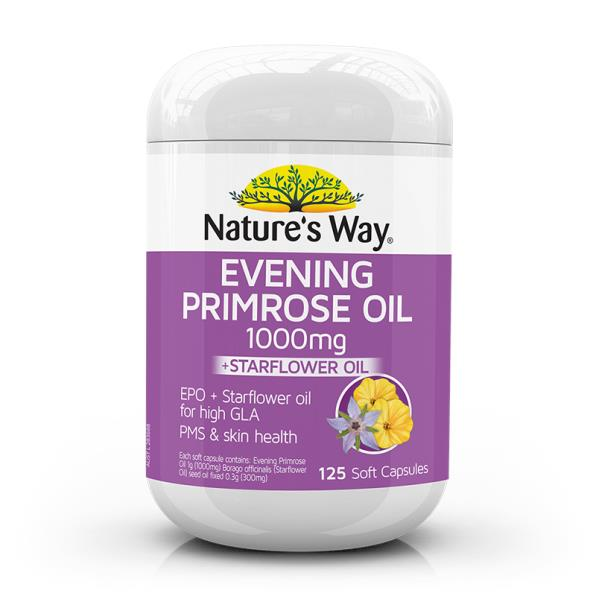 Nature's Way Evening Primrose Oil 1000mg + Star Flower Oil Cap X 125