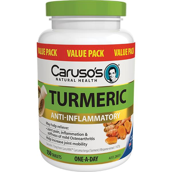 Caruso's Natural Health Turmeric One A Day Tab X 150