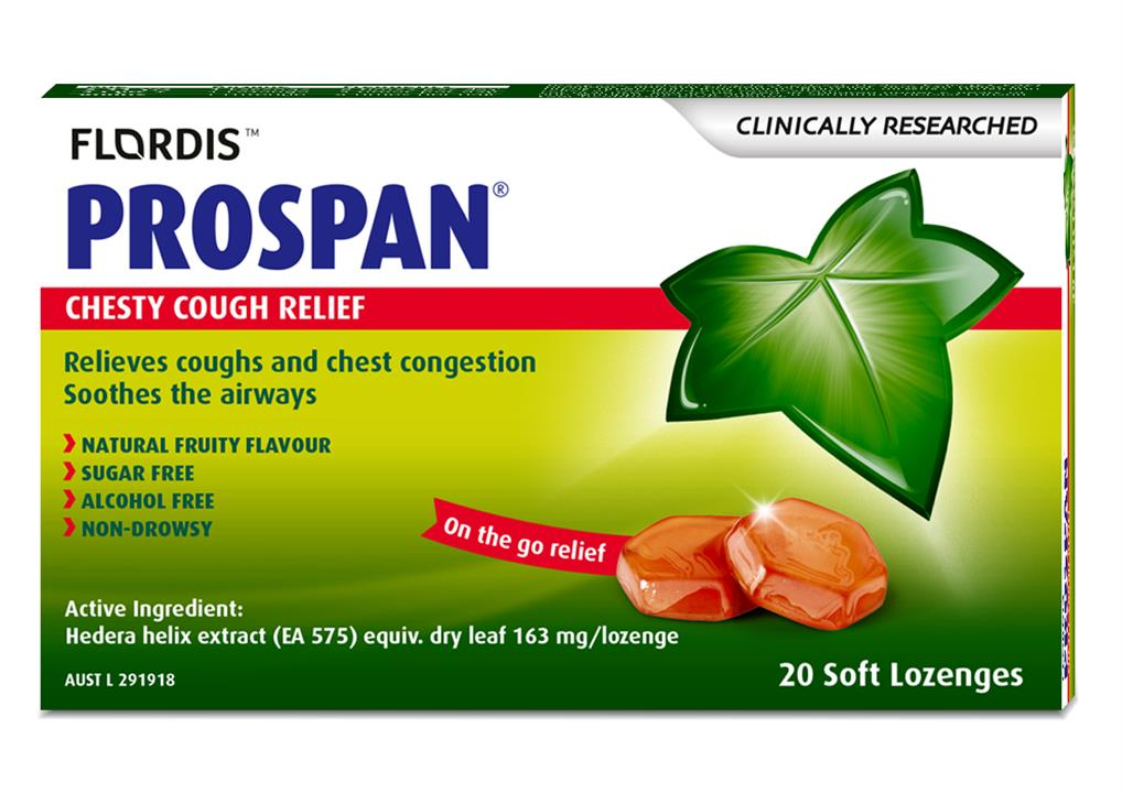 Flordis Prospan Chesty Cough Relief (Ivy Leaf) Soft Lozenges X 20