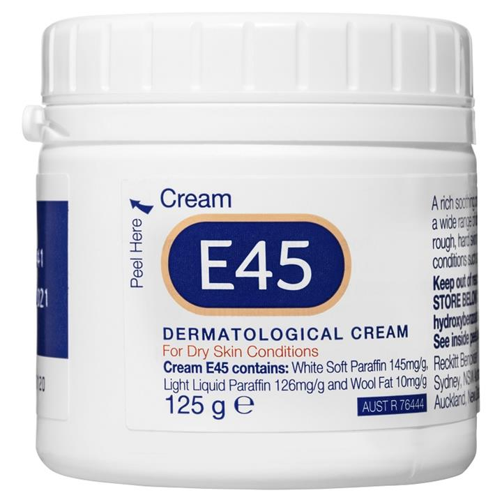 E45 Dermatological Cream for Dry Skin Conditions 125g