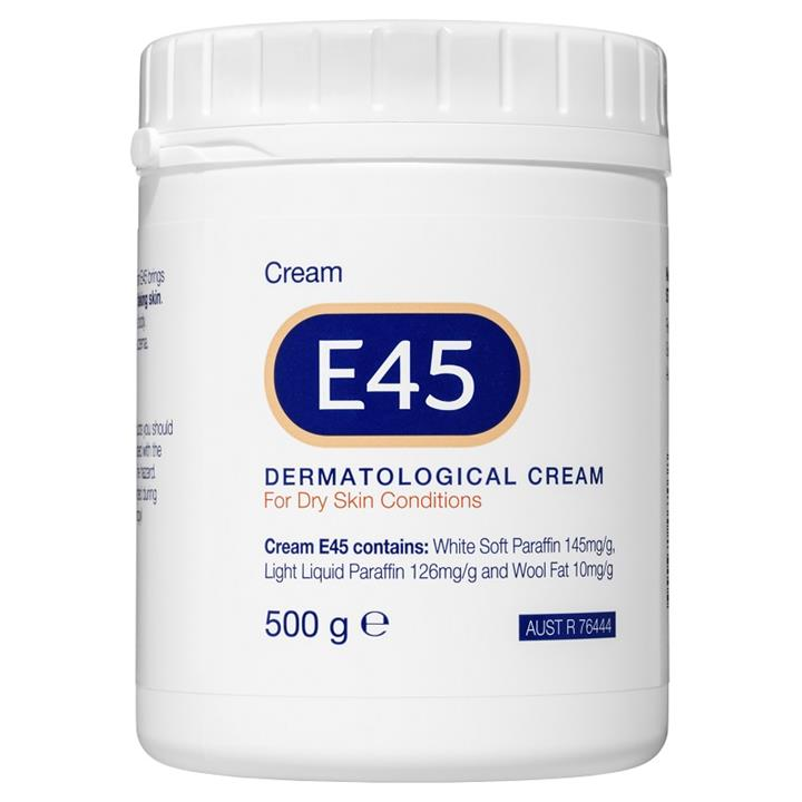 E45 Dermatological Cream for Dry Skin Conditions 500g