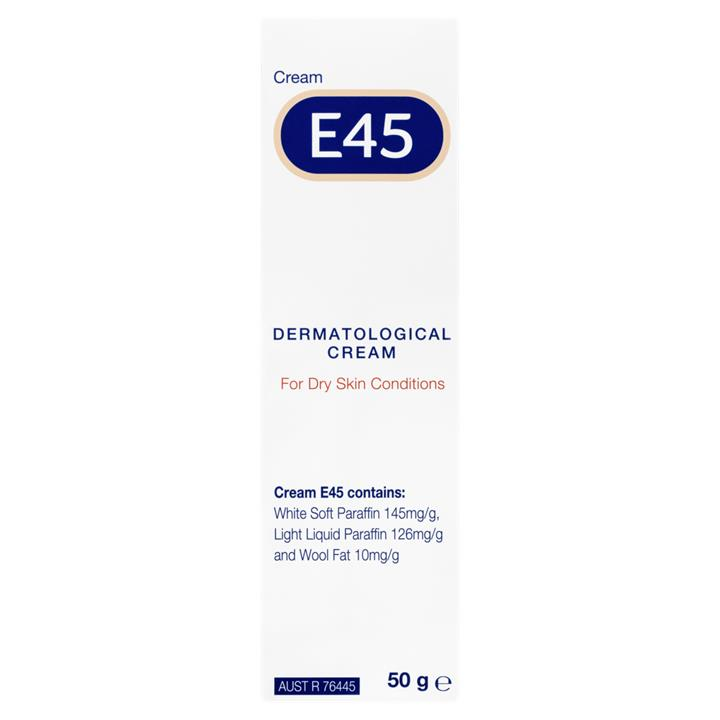 E45 Dermatological Cream for Dry Skin Conditions 50g
