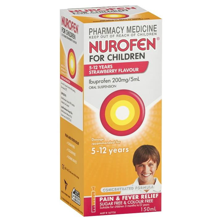 Nurofen for Children 5 to 12 Years (Strawberry Flavour) 150ml