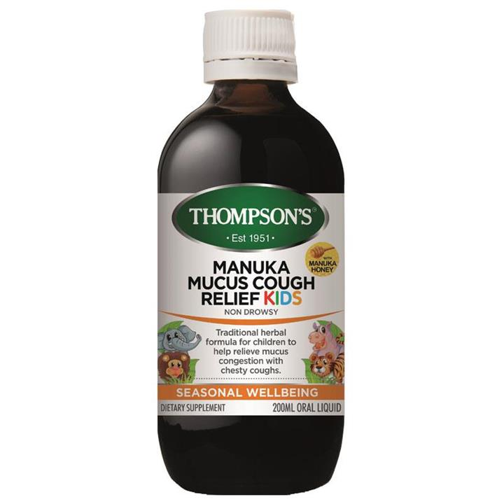 Thompson's Manuka Mucus Cough Relief Kids 200ml