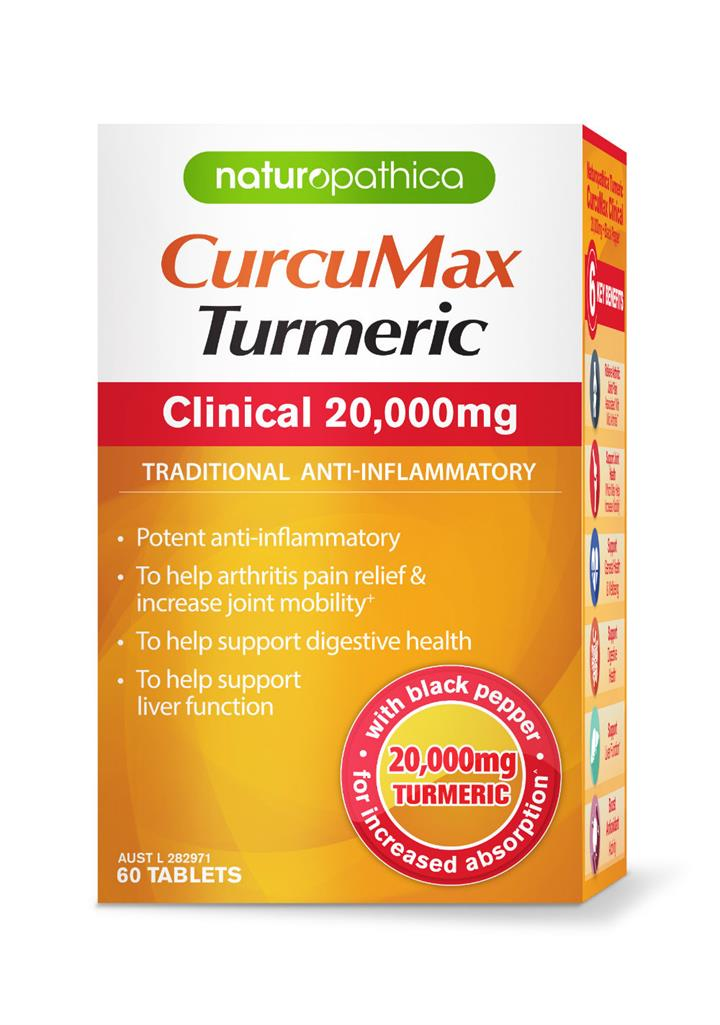 Naturopathica Curcumax Turmeric Clinical 20,000mg X 60
