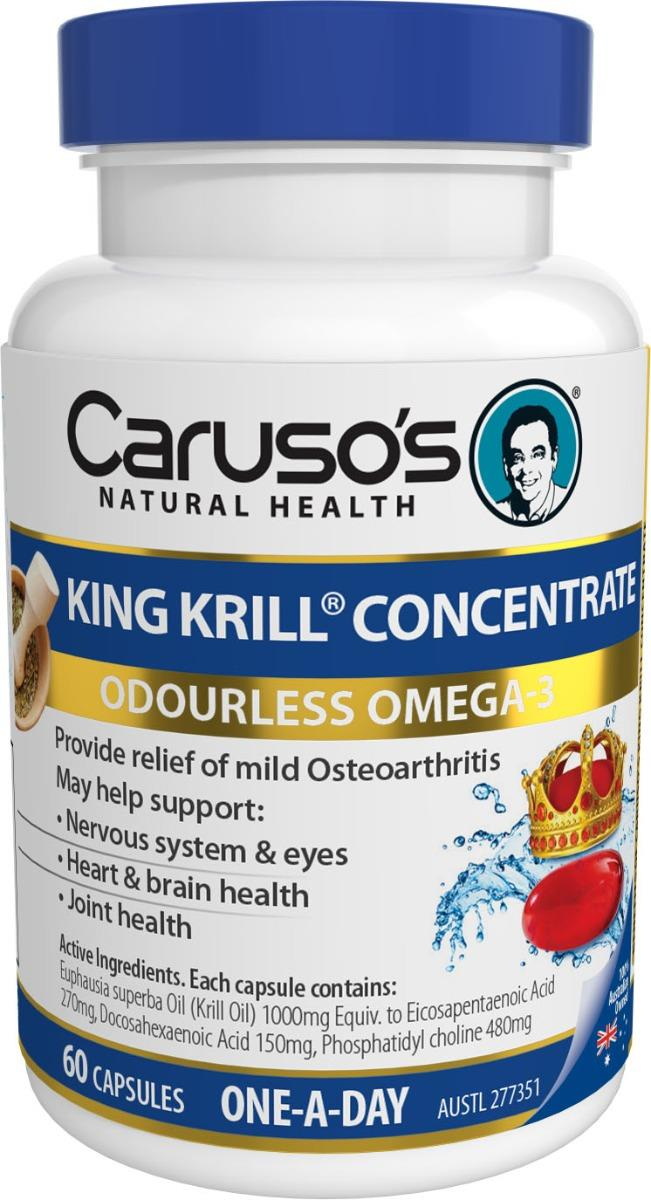 Caruso's Natural Health King Krill Concentrate Cap X 60