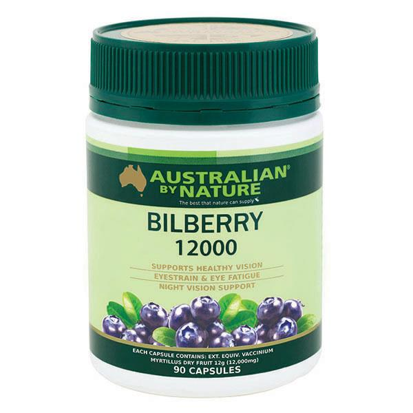 Australian By Nature Bilberry 12000mg Cap X 90