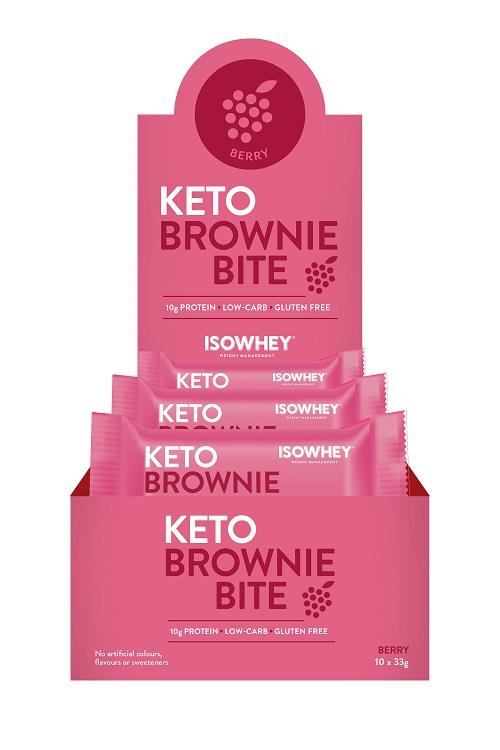 IsoWhey Keto Brownie Bite (Berry) 33g X 10 (Expiry 02/2020)