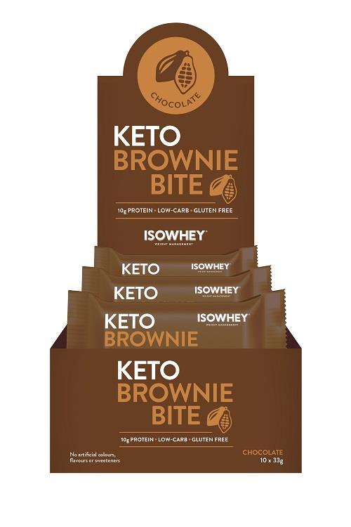 IsoWhey Keto Brownie Bite (Chocolate) 33g X 10
