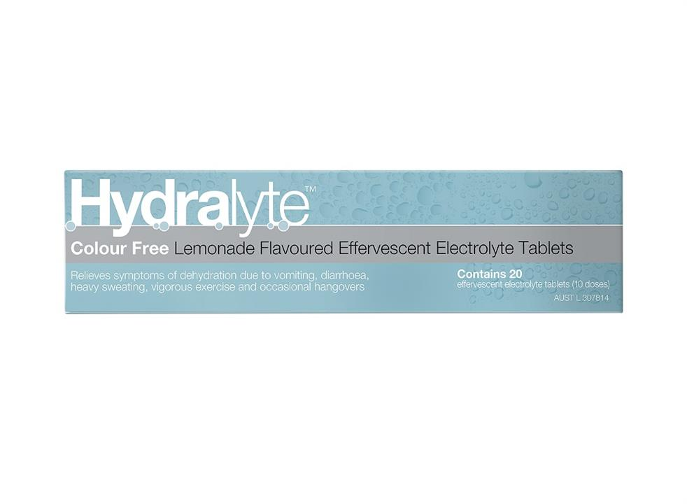 Hydralyte Electrolyte Effervescent Tab (Lemonade Flavour)  X 20