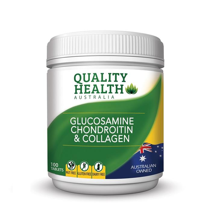 Quality Health Glucosamine Chondroitin & Collagen Tab X 100