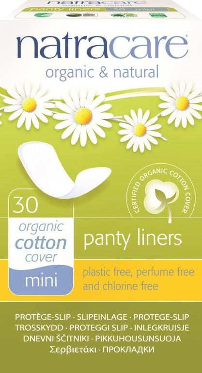 Natracare Natural Panty Liners Mini Breathable X 30