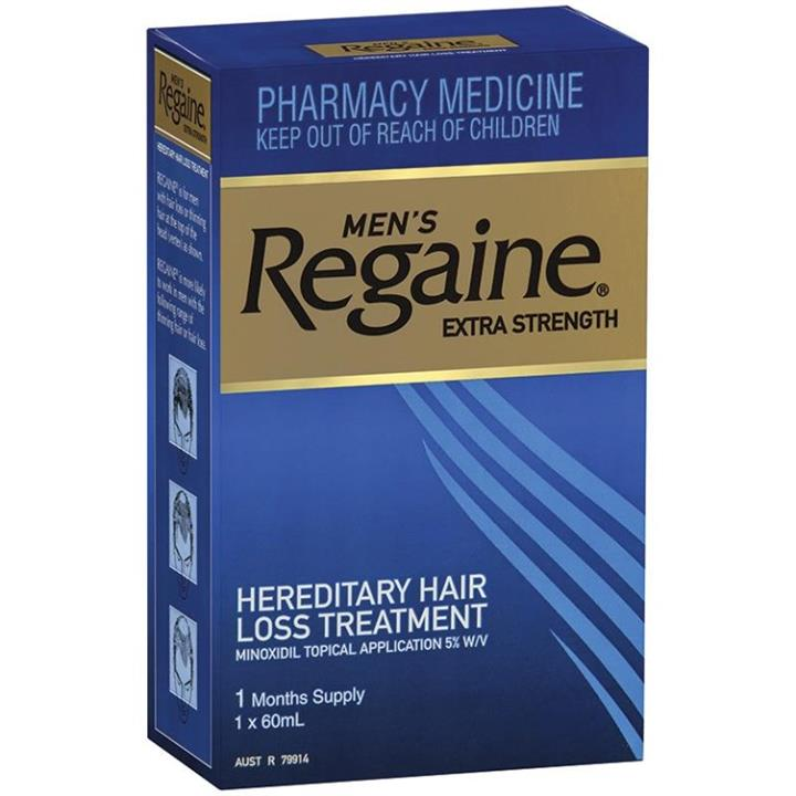 Regaine (Rogaine) Men Extra Strength Solution 5% 60ml (1 month supply)