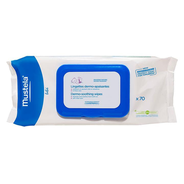 Mustela Cleansing And Soothing Wipes X 70
